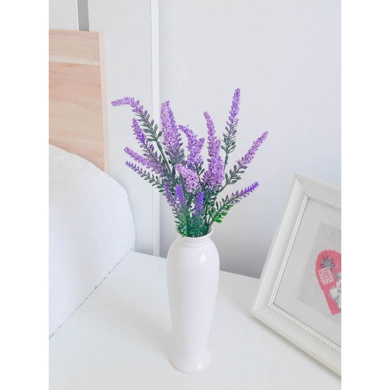 Искусственная лаванда для интерьера, фиолетовая, 1 пучок