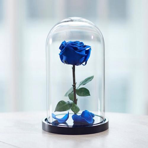 Синяя роза в стекле, не вянет