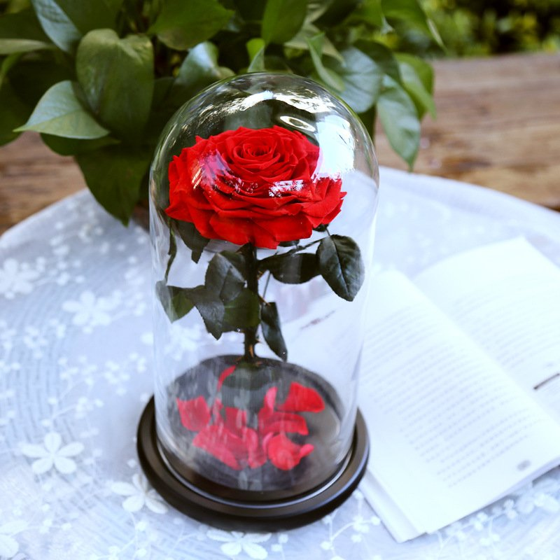 Роза в колбе Красная King Size