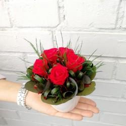 Букет из стабилизированных красных роз