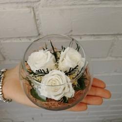 Букет из стабилизированных белых роз