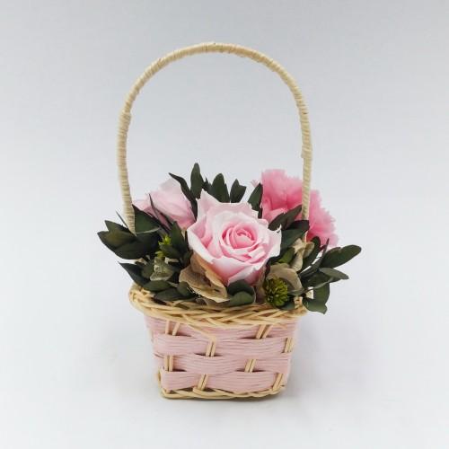 Корзинка: Розовая R